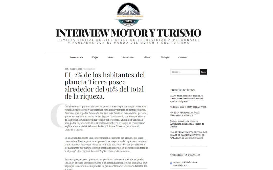 La revista Interview Motor y Turismo se hace eco del GuíaBurros: Poder y pobreza