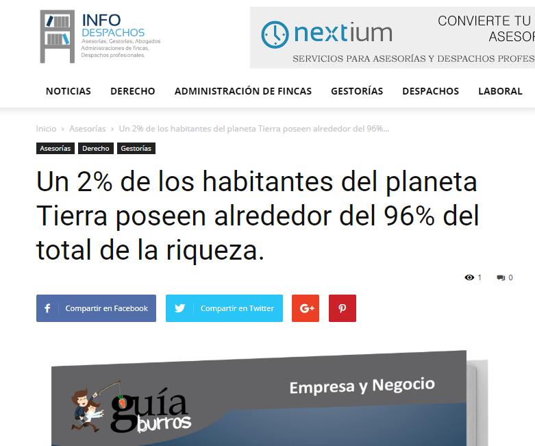 «El GuíaBurros: Poder y pobreza» en el medio InfoDespachos.
