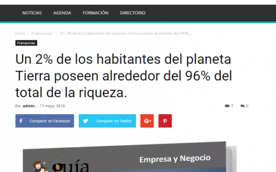 El «GuíaBurros: Poder y pobreza» y el portal líder enFranquicia.